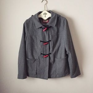 Old Navy zip and toggle pea coat with hood